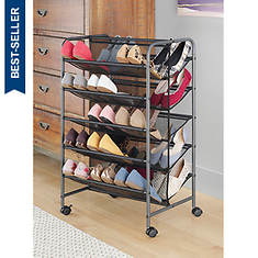 Whitmor 5-tier Dual-Sided Shoe Cart