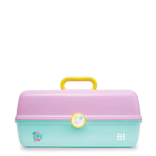 Caboodles Retro  XL Ultimate On-The-Go-Girl Train Case- Cosmetic Storage