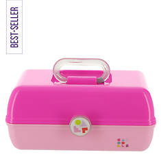 Caboodles Retro Pink and Rose Cosmetics Case with Mirror