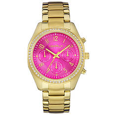 Caravelle New York Women's Crystal-Accent Dial Watch