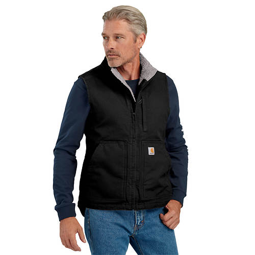 Carhartt Men's Washed Duck Sherpa-Lined Mock Neck Vest