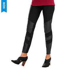 Faux Leather Panel Legging