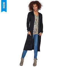 Waffle-Knit Duster