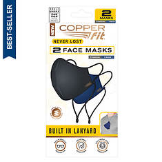 Copper Fit Never Lost Face Mask 2pk