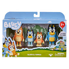 Disney Bluey 4-Piece Figure Assortment