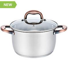 6 Qt. SS Casserole Pan with Copper Handles