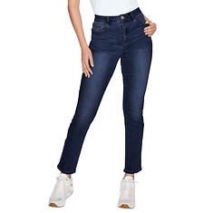 Mid-Rise Straight-Leg Jean
