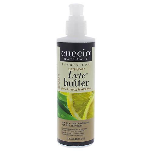 Cuccio Lyte Ultra-Sheer Body Butter - White Limetta & Aloe Vera