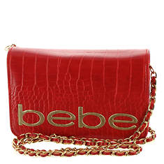 Bebe Leona Croco Crossbody Bag