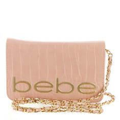 Bebe Leona Croco Crossbody Bag