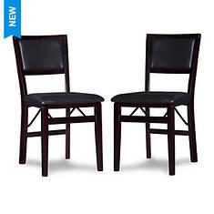 Linon Kemble Folding Chair 2-Piece Set