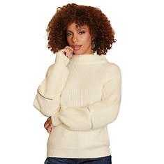 Cozy Mock Neck Zipper Sweater