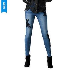 Lace Applique Skinny Jean