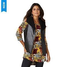 Reversible Faux Leather/Sherpa Vest