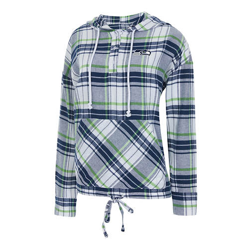 NFL Women's Accolade Long-Sleeved Flannel Hoodie