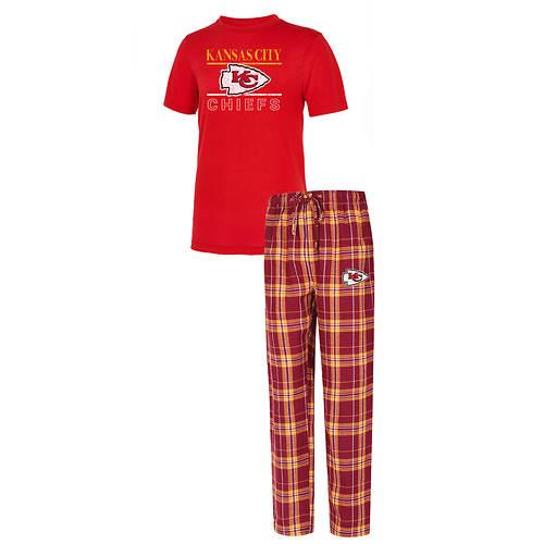 NFL Men's Lodge Short Sleeve Top-Pant Sleep Set
