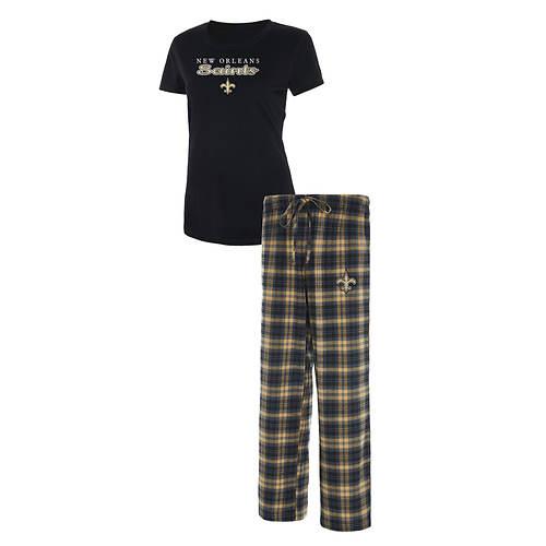 NFL Women's Lodge Short Sleeve Pant Sleep Set