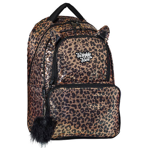 Twinkle Toes Sequins Backpack with Cat Ears