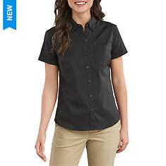 Dickies Women's Short Sleeve Button-Up Shirt