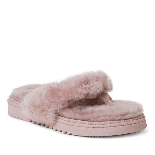 Fireside By Dearfoams Auburn Genuine Shearling Thong (Women's)