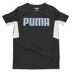 PUMA Boys' Amplified Color Blocked Performance Tee