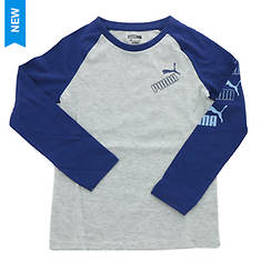 PUMA Boys' Amplified Pack LS Raglan Tee