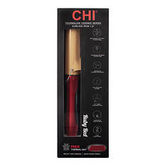 """CHI Tourmaline Ceramic 1.5"""" Curling Iron in Ruby Red"""