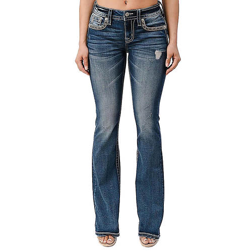 Miss Me M3788B Distressed Bootcut Jean