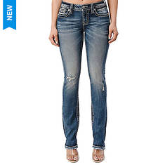 Miss Me M3767T Fleur Embroidered Straight Jean