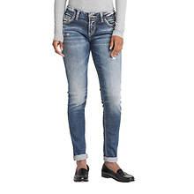 Silver Jeans Women's Girlfriend Mid Rise Jean