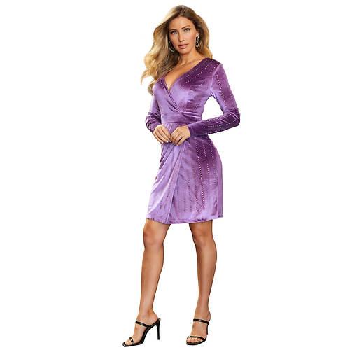 Long-Sleeved Velvet Dress