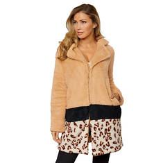 Colorblock Sherpa Coat