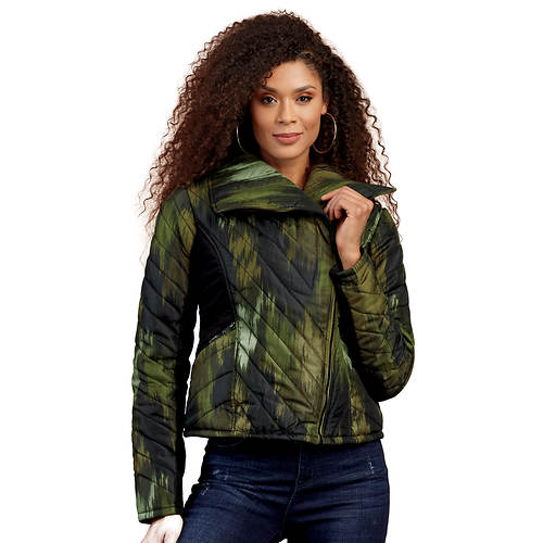 Sleek Quilted Puffer Coat