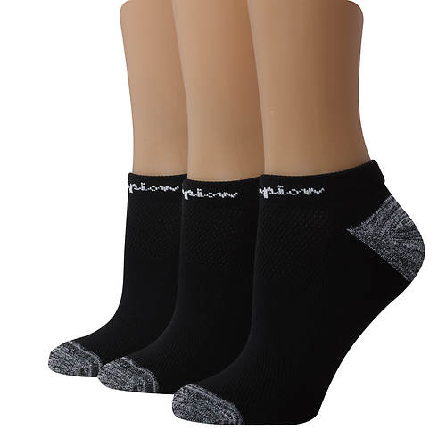 Champion® Women's Embroidered Logo Low-Cut Socks 3-Pack