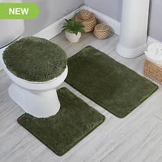 Queen Mary Microplush Bath Rug Set