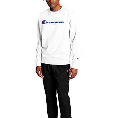 Champion® Men's Script Logo Powerblend Crew