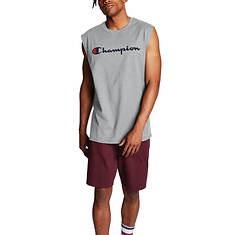 Champion® Men's Classic Script Logo Jersey Muscle Tee