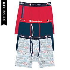 Champion® Men's Cotton Stretch Boxer Brief 3 Pk