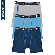 Champion® Men's Cotton Strectch Boxer Brief 3 Pk