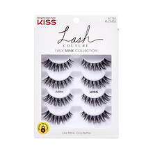 KISS Lash Couture Multipack Faux Mink, Jubilee Multipack, 4 pairs