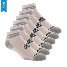 Skechers Men's S115026 Quarter 6 Pack Socks