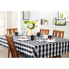 "60""x102"" Farm Check Tablecloth"