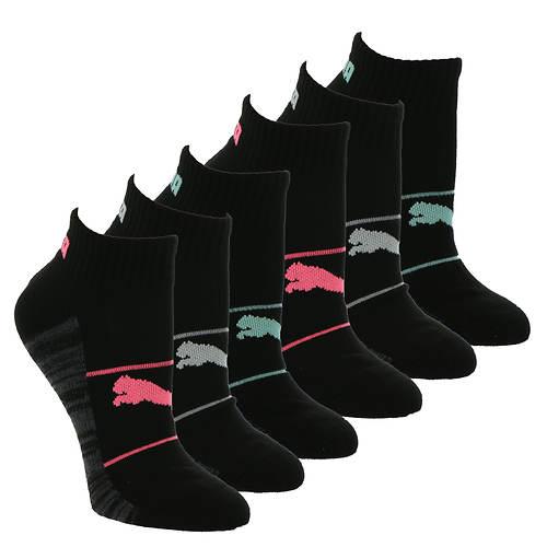 PUMA Women's P116089 Quarter Crew 6-Pack Socks