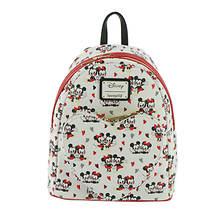 Loungefly Mickey & Minnie Heart Mini Backpack