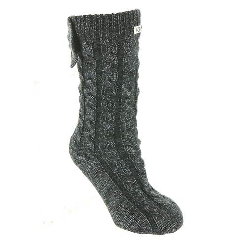 UGG® Laila Bow Fleece-Lined Sock