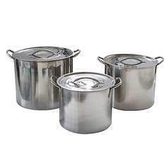 6-Piece Stainless Steel Stock Pot Set