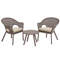 National Outdoor Living Rattan Style Chat Set