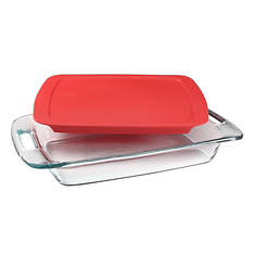 """Pyrex® 9""""x13"""" Easy Grab Oblong Baking Dish With Lid"""