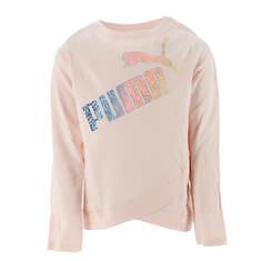 PUMA Girls' Gradient LS Fashion Tee