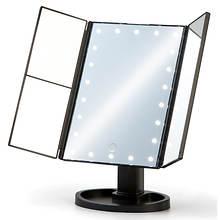 LED Tri-Fold Makeup Mirror